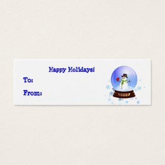 Cartão De Visitas Mini Tag felizes do presente de época natalícia de
