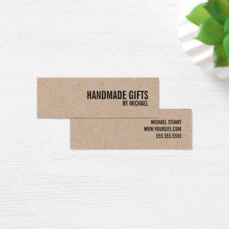 Cartão De Visitas Mini Tag Handmade corajoso dos presentes do papel de