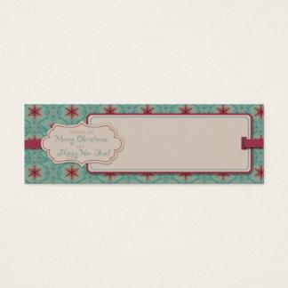 Cartão De Visitas Mini Tag magro do presente do Natal elegante