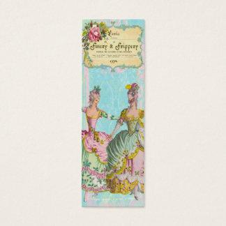 Cartão De Visitas Mini TAG magros do perfil do Finery de Marie Antoinette