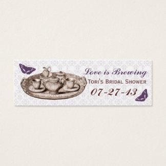 Cartão De Visitas Mini Tag nupciais do saco do presente do tea party do