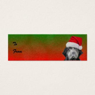 Cartão De Visitas Mini Tag tormentosos do presente do Natal