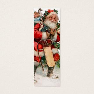 Cartão De Visitas Mini Tag velhos alegres do presente de São Nicolau