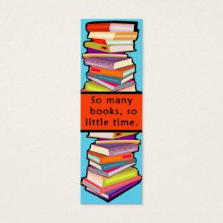 Cartão De Visitas Mini Tão muitos marcador customizáveis dos livros
