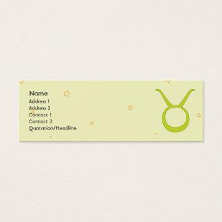 Cartão De Visitas Mini Taurus - magro