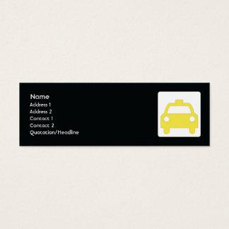 Cartão De Visitas Mini Táxi - magro