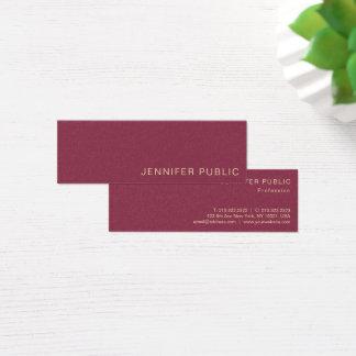 Cartão De Visitas Mini Tendendo o luxo moderno profissional do