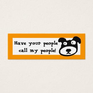 Cartão De Visitas Mini Tenha suas pessoas chamam minhas pessoas