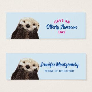 Cartão De Visitas Mini Tenha uma foto bonito da lontra do dia