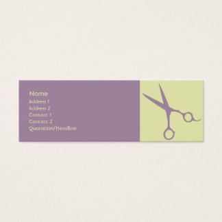 Cartão De Visitas Mini Tesouras - magros