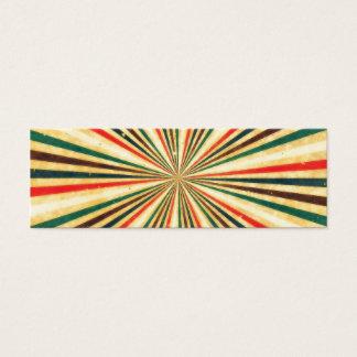 Cartão De Visitas Mini Teste padrão colorido do redemoinho do vintage