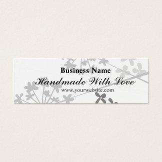 Cartão De Visitas Mini Texto Handmade com o florido floral mínimo do amor