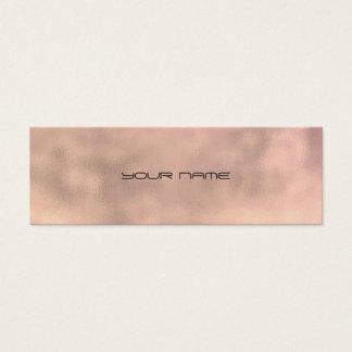 Cartão De Visitas Mini Textura mínima de linho do falso cinzento