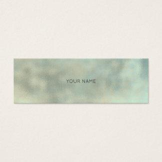 Cartão De Visitas Mini Textura mínima de linho do ouro cinzento de