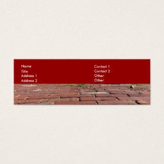 Cartão De Visitas Mini Tijolos vermelhos antigos