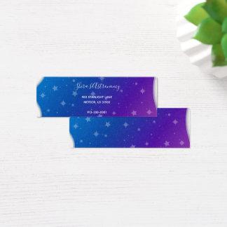 Cartão De Visitas Mini Trave uma estrela de queda