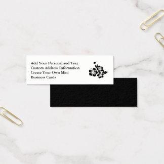 Cartão De Visitas Mini Três flores tropicais do hibiscus preto
