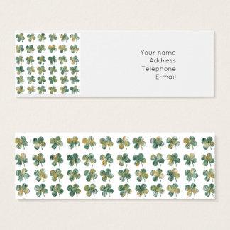 Cartão De Visitas Mini Trevo afortunado
