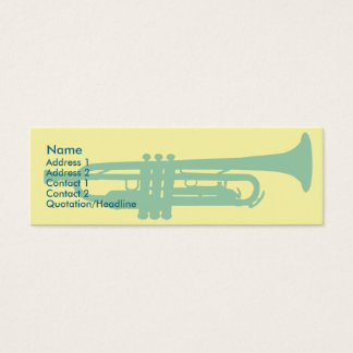 Cartão De Visitas Mini Trombeta - magro