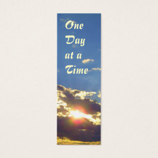 Cartão De Visitas Mini Um dia em um marcador do esplendor do tempo