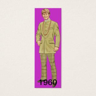 Cartão De Visitas Mini Um marcador separado da década