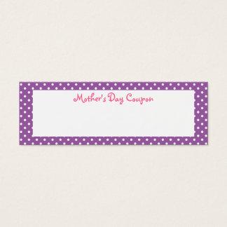 Cartão De Visitas Mini Vales do dia das mães
