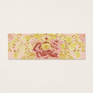 Cartão De Visitas Mini Vintage cor-de-rosa & borboletas - marcador