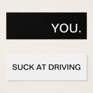 Cartão De Visitas Mini você suga na condução