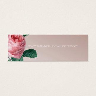 Cartão De Visitas Mini Web site cor-de-rosa do casamento da névoa