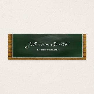 Cartão De Visitas Mini Woodworker - quadro-negro legal pessoal