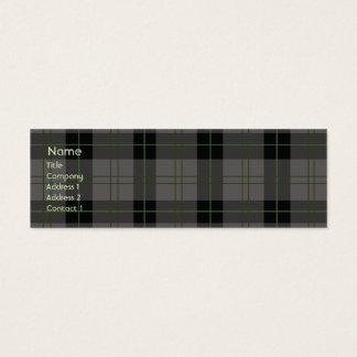 Cartão De Visitas Mini Xadrez escura - magro