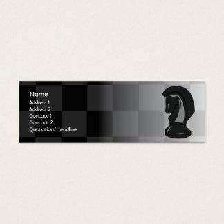Cartão De Visitas Mini Xadrez - magro