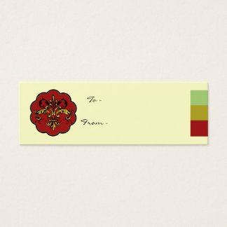 Cartão De Visitas Mini Xmas da flor de lis
