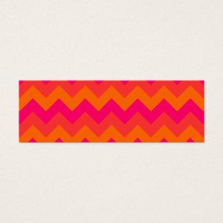 Cartão De Visitas Mini Ziguezague alaranjado e cor-de-rosa