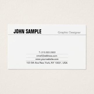 Cartão De Visitas Minimalista branco profissional moderno liso