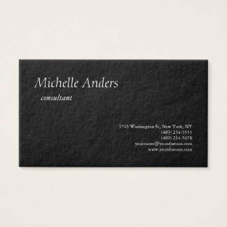Cartão De Visitas Minimalista liso preto grosso superior luxuoso