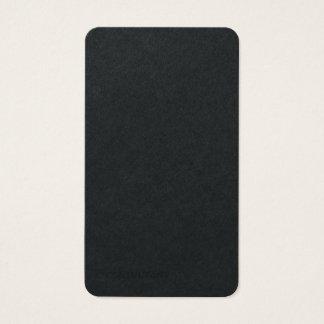 Cartão De Visitas Minimalista moderno na moda liso preto superior
