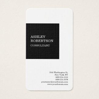 Cartão De Visitas Minimalista na moda à moda profissional moderno