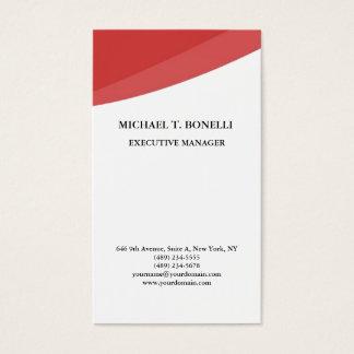 Cartão De Visitas Minimalista profissional clássico das curvas