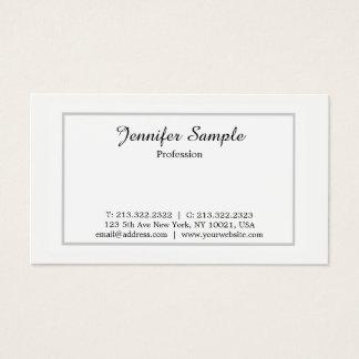 Cartão De Visitas Minimalista simples branco profissional moderno