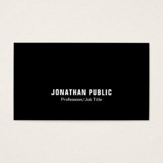 Cartão De Visitas Minimalistic branco preto elegante na moda moderno