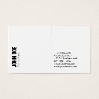 Cartão De Visitas Minimalistic branco profissional moderno liso