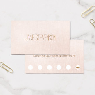 Cartão De Visitas Minimalistic ilumina - a lealdade cor-de-rosa do