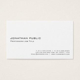 Cartão De Visitas Minimalistic profissional branco elegante moderno