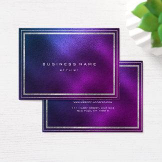 Cartão De Visitas Mínimo Amethyst roxo tropical do quadro dourado