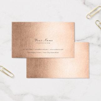 Cartão De Visitas Mínimo cora o roteiro delicado do ouro cor-de-rosa