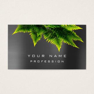 Cartão De Visitas Mínimo de prata orgânico de Eco Grau da samambaia