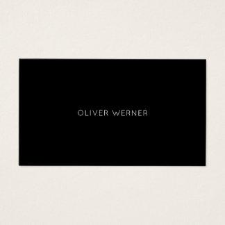 Cartão De Visitas mínimo do preto elegante minimalista