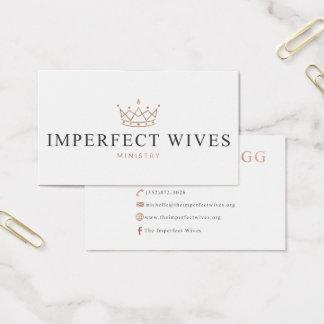 Cartão De Visitas Ministério imperfeito das esposas - Michelle