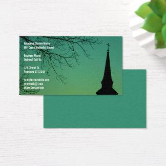 Cartão De Visitas Ministro do Steeple da igreja cristã